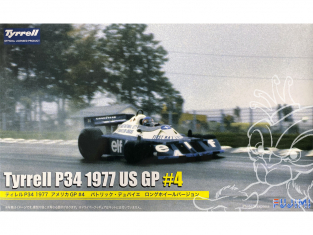 Fujimi maquette voiture 090986 Tyrrell P34 GP US 1977 44 1/20