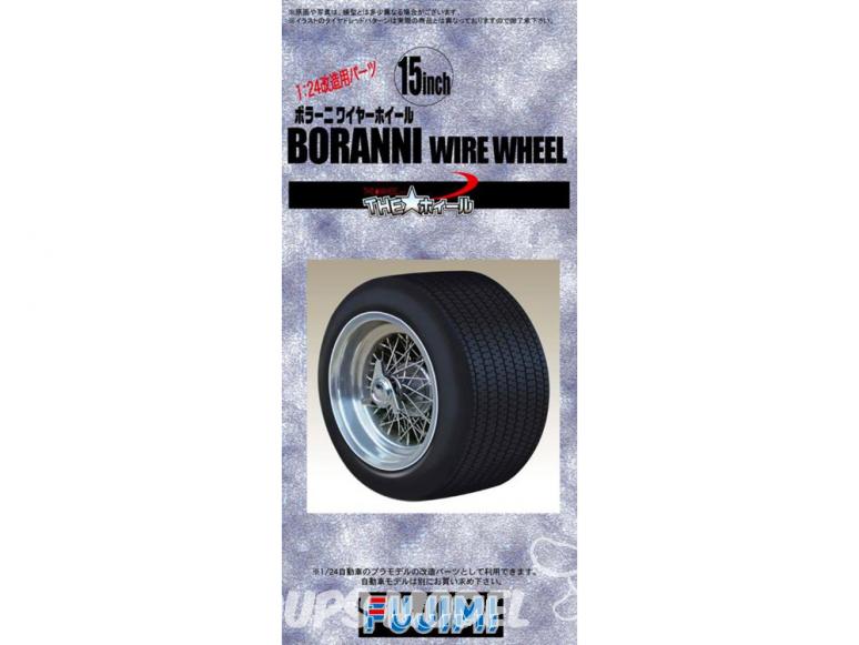 "Fujimi maquette voiture 192932 Jantes Borrani Wire wheel 15"" et pneus 1/24"