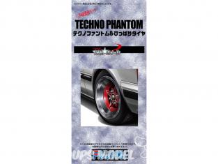 Fujimi maquette voiture 193205 Jantes Techno Phantom et pneus 1/24