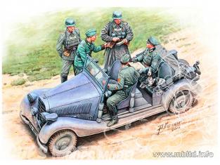 MB maquette militaire 35112F Personnages Armée Allemande WWII vehicule non inclus 1/35