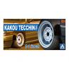 "Aoshima maquette voiture 54680 Jantes Kakou Tecchin Type-2 14"" et pneus 1/24"