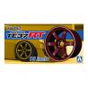 "Aoshima maquette voiture 53027 Jantes Rays Volk Racing TE37RT 18"" et pneus 1/24"