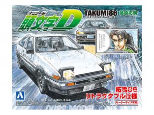 Aoshima maquette voiture 09000 Initial D - Takumi86 Toyota AE86 Trueno 1/32