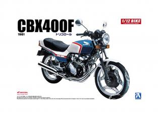 Aoshima maquette moto 52976 Honda CBX400F Tricolor 1981 1/12