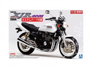 Aoshima maquette moto 53263 Yamaha XJR400S 1994 avec pièces Custom 1/12