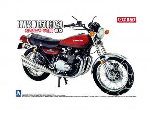 Aoshima maquette moto 52983 Kawasaki 750RS Z2 1973 avec pièces Custom 1/12