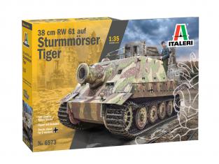 Italeri maquette militaire 6573 38 cm RW 61 auf STURMMORSER TIGER 1/35
