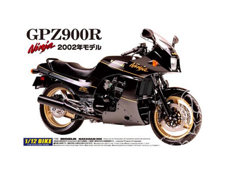 Aoshima maquette moto 42878 Kawasaki GPZ900R Ninja 2002 1/12