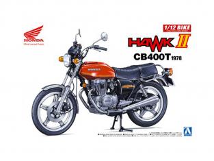 Aoshima maquette moto 53966 Honda Hawk II CB400T 1978 1/12
