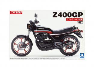 Aoshima maquette moto 54567 Kawasaki Z400GP 1982 avec pièces Custom 1/12