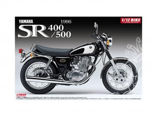 Aoshima maquette moto 51696 Yamaha SR400/500 1996 1/12