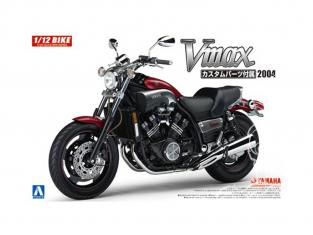 Aoshima maquette moto 54307 Yamaha Vmax 2004 avec pièces Custom 1/12
