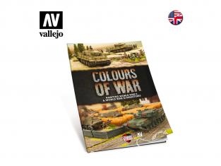 Vallejo Librairie 75013 Colours of War Peinture de miniatures de la seconde guerre mondiale et post en langue Anglaise