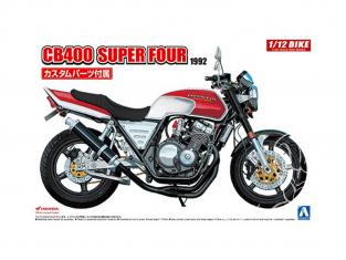 Aoshima maquette moto 55144 Honda CB400 Super Four 1992 avec Pièces Custom 1/12