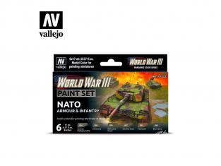 Vallejo Set Wargames Color Series 70223 WWIII Armée et infanterie de l'OTAN 6 pots de peintures 17ml