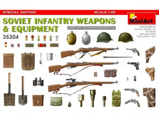Mini Art maquette militaire 35304 ARMES ET EQUIPEMENT DE L'INFANTERIE SOVIETIQUE WWII ÉDITION SPÉCIALE 1/35