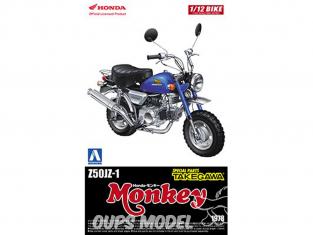 Aoshima maquette moto 52204 Honda Monkey Z50J-I 1978 Pièces Takegawa 1/12