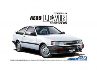 Aoshima maquette voiture 55939 Toyota Corolla Levin 1500SR AE85 1985 1/24