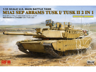 Rye Field Model maquette militaire 5026 M1A2 SEP Abrams Tusk I / Tusk II 2 en 1 avec Full interieur 1/35