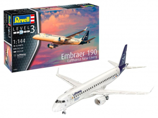 "Revell maquette avion Model set 63883 Embraer 190 Lufthansa ""New Livery"" 1/144"
