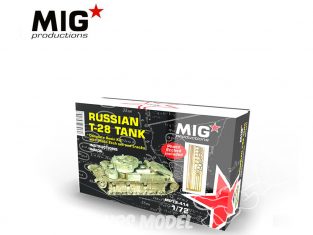 MIG Productions by AK MP72-414 Char Russe T-28 1/72