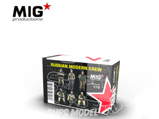 MIG Productions by AK MP72-412 Equipage Russe moderne 1/72