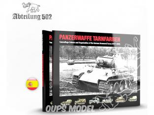 ABTEILUNG502 livre 722 Panzerwaffe Tarnfarben en Espagnol