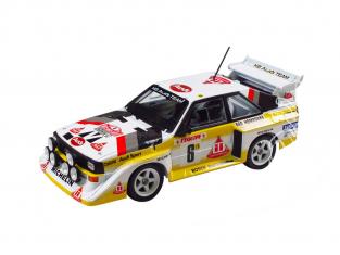 Beemax maquette voiture B24017 Audi sport Quattro S1(E2) monte carlo 1986 1/24