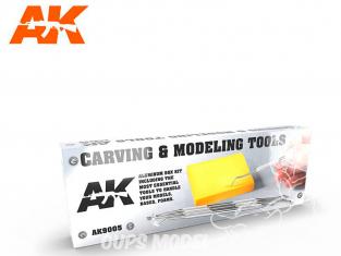 AK interactive outillage ak9005 Boite outils de sculpture et modelage