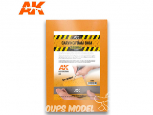 AK interactive ak8093 Plaque mousse de sculpture 8mm A5