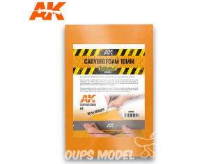 AK interactive ak8094 Plaque mousse de sculpture 10mm A4
