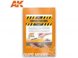 AK interactive ak8095 Plaque mousse de sculpture 8mm A4