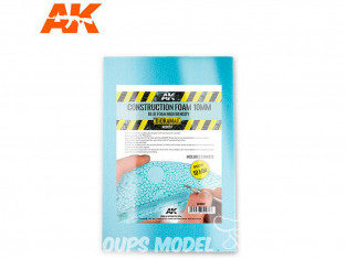 AK interactive ak8097 Plaque mousse de construction 10mm 195 x 295mm x2