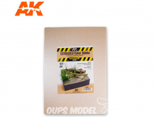 AK interactive ak8099 Plaque mousse extrudée 30mm A4