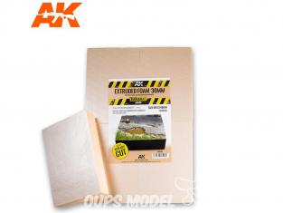 AK interactive ak8100 Plaque mousse extrudée 30mm 105 x 148mm x4