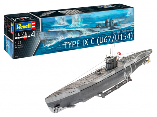 Revell sous-marin 05166 Sous-marin allemand de type IXC U67 / U154 1/72