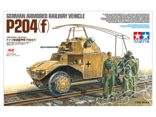 TAMIYA maquette militaire 32413 VÉHICULE FERROVIAIRE BLINDÉ ALLEMAND P204 (f) 1/35