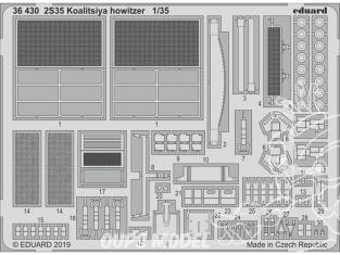 Eduard photodecoupe militaire 36430 Amélioration 2S35 Koalitsiya Howitzer Zvezda 1/35