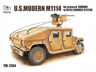 T-Model TM-7204 maquette militaire M1114 US HMMWV avec M153 System CrowsII 1/72