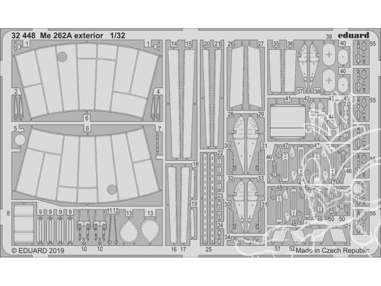 Eduard photodécoupe avion 32448 Extérieur Messerschmitt Me 262A Revell 1/32