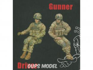 T-Model TK72003 deux Soldats U.S Conducteur et mitrailleur 1/72