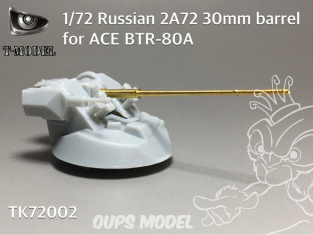 T-Model TK72002 2a72 30mm Affut de canon pour ace BTR-80A 1/72