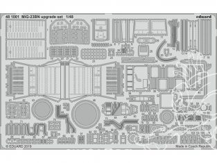 EDUARD photodecoupe avion 481001 Set amélioration MiG-23BN Eduard 1/48