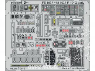 EDUARD photodecoupe avion FE1037 Zoom Amélioration F-104G Early Kinetic 1/48