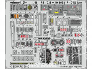 EDUARD photodecoupe avion FE1038 Zoom Amélioration F-104G Late Kinetic 1/48