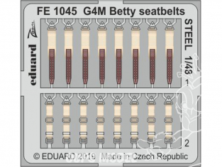EDUARD photodecoupe avion FE1045 Harnais métal G4M Betty Tamiya 1/48