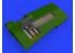 Eduard kit d'amelioration avion brassin 648517 Gun Bays P-51D Eduard 1/48