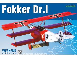 EDUARD maquette avion 8487 Fokker Dr.I WeekEnd Edition 1/48