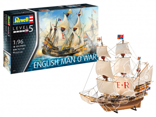 revell bateau 05429 English Man O'War 1/96