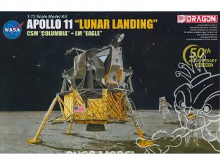 "Dragon espace 11002 Apollo 11 ""Lunar Landing"" CSM ""Columbia"" avec LM ""Eagle"" 1/72"